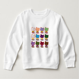 FROG FROGGY PATTERN SWEATSHIRT