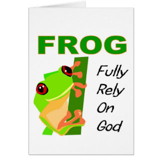 FROG, Fully rely on God Greeting Card