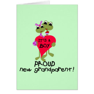 Frog Grandparent of Boy Tshirts and Gifts Card