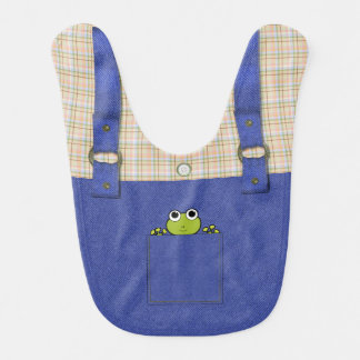 Frog In A Pocket Baby Bib