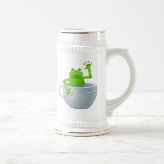 Frog in Cup Cartoon