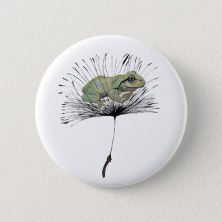 Frog in seed 2 inch round button