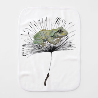 Frog in seed burp cloth