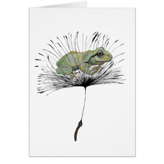 Frog in seed card