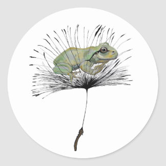 Frog in seed classic round sticker