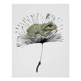 Frog in seed poster