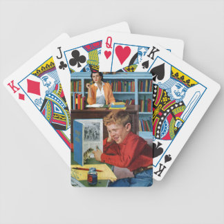 Frog in the Library Bicycle Card Deck