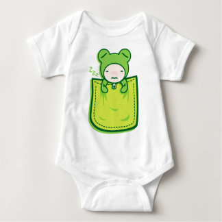 Frog_in_the_Pocket Baby Bodysuit