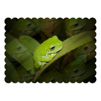 "frog.jpg 5"" x 7"" invitation card"