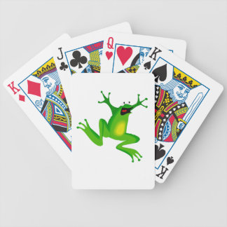 FROG JUMPING -  NEON GREEN FROG POKER CARDS