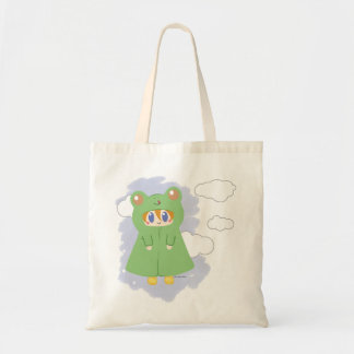 Frog Kawaii Rainy Day Frog Tote Bag