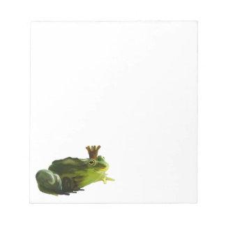 Frog king notepad