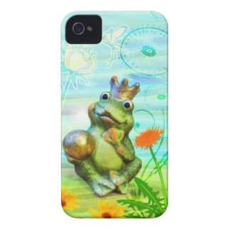 Frog king with flowers iPhone covering iPhone 4 Case