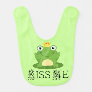 Frog Kiss Me Baby Infant Bib