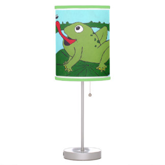 Frog Lamp, Ribbit Lamp, Pond Theme Nursery Table Lamp
