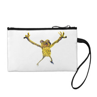 Frog Leaping Animal Art Coin Purse