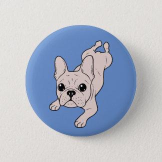 Frog Leg Cream French Bulldog 2 Inch Round Button
