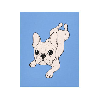 Frog Leg Cream French Bulldog Canvas Print