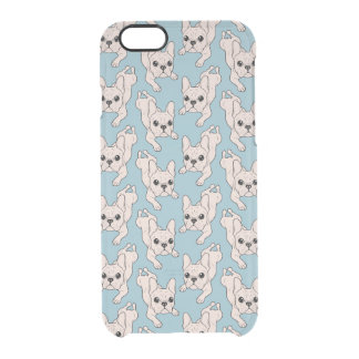 Frog Leg Cream French Bulldog Clear iPhone 6/6S Case