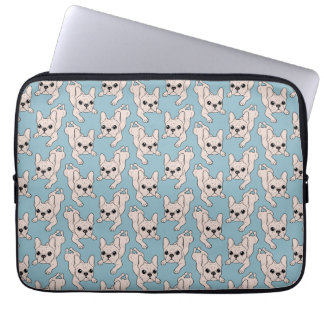 Frog Leg Cream French Bulldog Laptop Sleeve