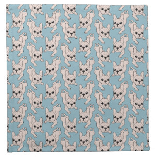 Frog Leg Cream French Bulldog Napkin