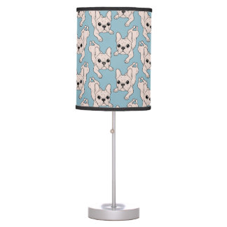 Frog Leg Cream French Bulldog Table Lamps