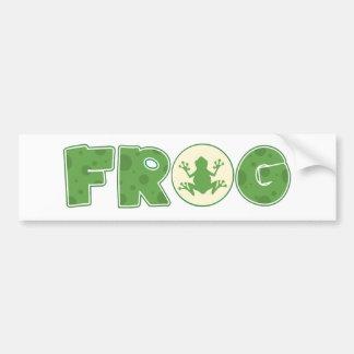 Frog Logo Bumper Sticker