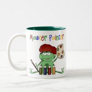 Frog Master Painter Two-Tone Coffee Mug