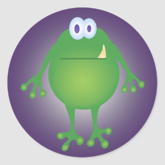 Frog Monster Round Sticker