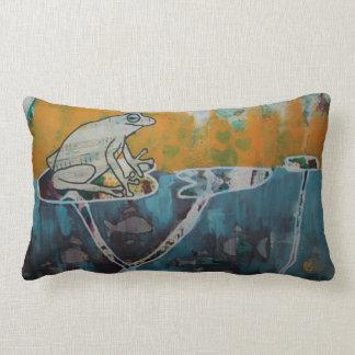 Frog Music Lumbar Pillow