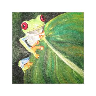 Frog nature green canvas print