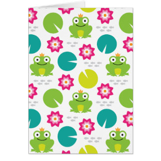 Frog & Nenuphar Seamless Pattern Card