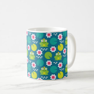 Frog & Nenuphar Seamless Pattern Coffee Mug
