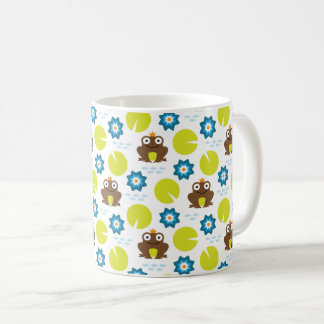 Frog & Nenuphar Seamless Pattern Coffee Mug