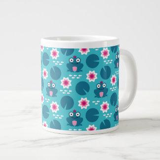 Frog & Nenuphar Seamless Pattern Large Coffee Mug