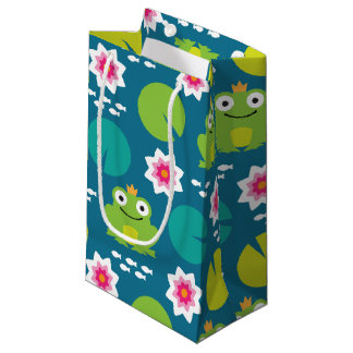 Frog & Nenuphar Seamless Pattern Small Gift Bag
