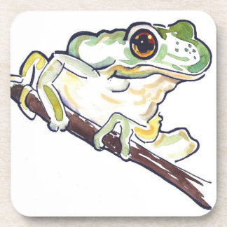 Frog on a Branch Set of 6 Coasters