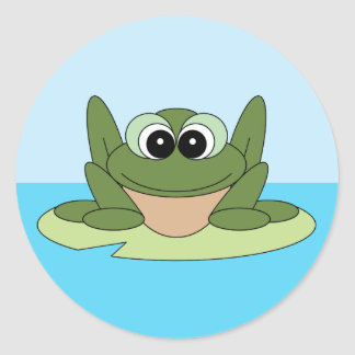 Frog on a Lily Pad Sticker