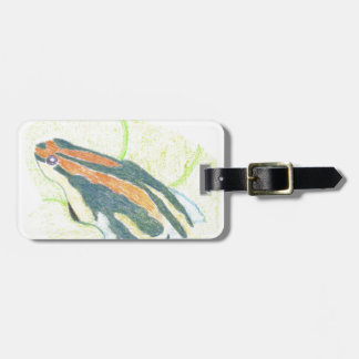 Frog on Lily Pad Luggage Tag