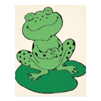 Frog on Lilypad Letterhead