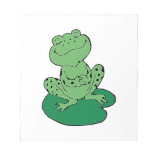 Frog on Lilypad Notepad