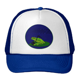 Frog on Lilypad with music notes Trucker Hat
