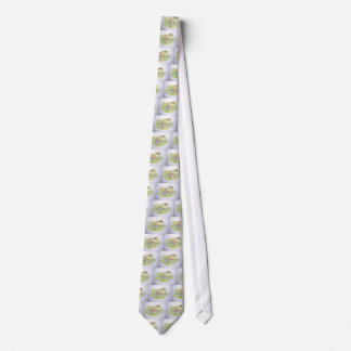 Frog on Lotus leaf Tie