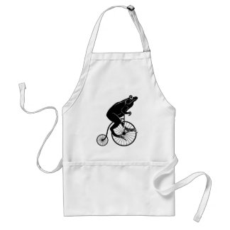 Frog on Vintage Bike Standard Apron