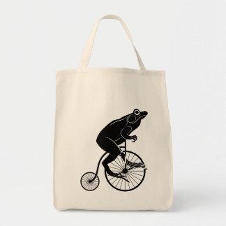 Frog or Toad Riding Vintage Bike