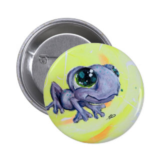 Frog Painting on Canvas Froggy Frogger Animal Kids 2 Inch Round Button
