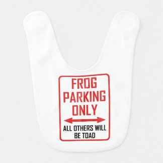 Frog Parking All Others Toad Bib