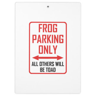 Frog Parking All Others Toad Clipboard