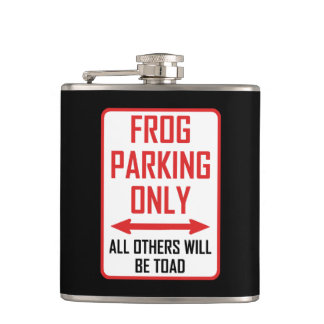 Frog Parking All Others Toad Hip Flask