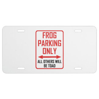 Frog Parking All Others Toad License Plate